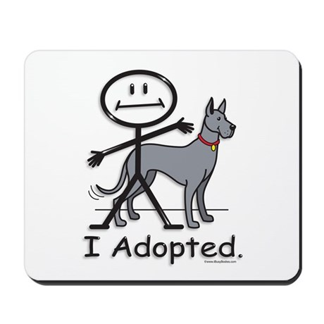 BusyBodies Great Dane (Blue) Mousepad