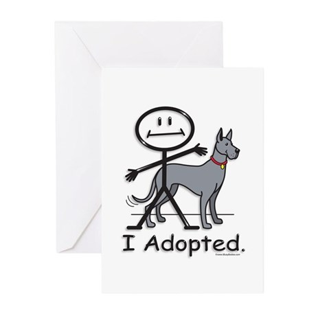 BusyBodies Great Dane (Blue) Greeting Cards (Packa