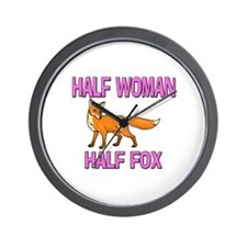 Half Woman Half Fox Wall Clock