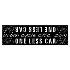 ONE LESS CAR Bike Frame Bumper Sticker