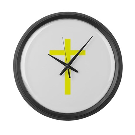 Yellow Cross Giant Clock