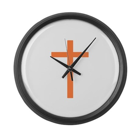 Orange Cross Giant Clock