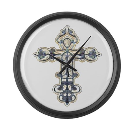 Ornate Cross Giant Clock