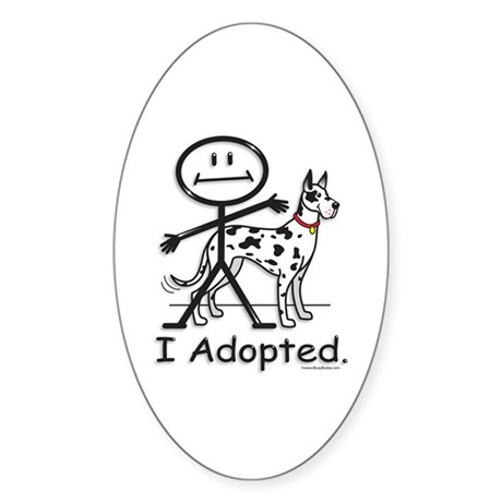 BusyBodies Great Dane (Harlequin) Oval Sticker