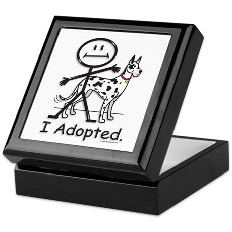 BusyBodies Great Dane (Harlequin) Keepsake Box