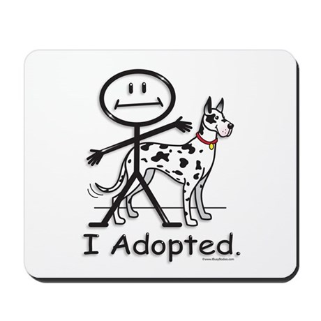 BusyBodies Great Dane (Harlequin) Mousepad 