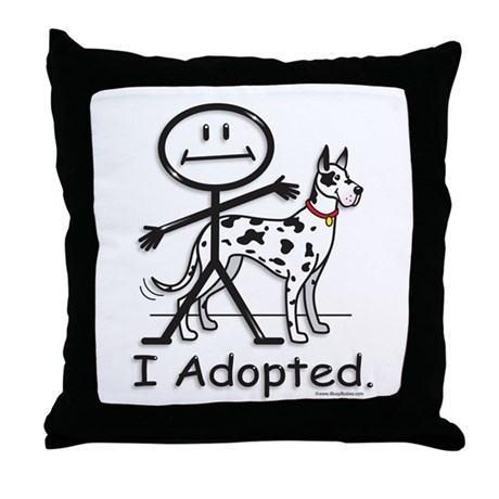 BusyBodies Great Dane (Harlequin) Throw Pillow
