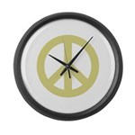 Golden Peace Sign Giant Clock