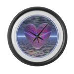 Psychedelic Heart Giant Clock