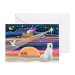 XmasAngel - Akita Greeting Card