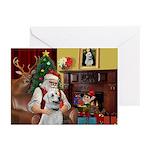 Santa & Anatolian Greeting Greeting Cards (Pk of 1