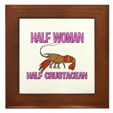 Half Woman Half Crustacean Framed Tile