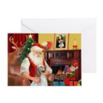 Santa's English Setter Greeting Card