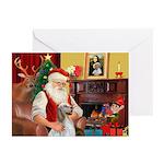 Santa's English Setter Greeting Cards (Pk of 20)