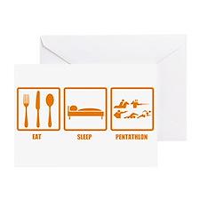 Eat Sleep Pentathlon Greeting Card