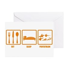 Eat Sleep Pentathlon Greeting Cards (Pk of 10)
