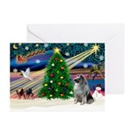 Xmas Magic/ Keeshond Greeting Cards (Pk of 10)