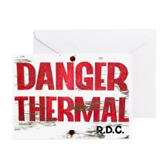 Danger Thermal (Hot) Greeting Cards (Pk of 10)