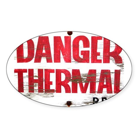 Danger Thermal (Hot) Oval Sticker