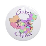 Guixi China Map Ornament (Round)