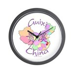 Guixi China Map Wall Clock