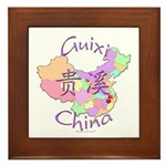 Guixi China Map Framed Tile