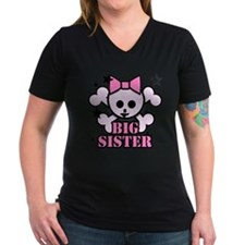 Pink bow skull big sister Shirt