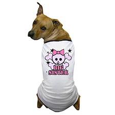 Pink bow skull big sister Dog T-Shirt
