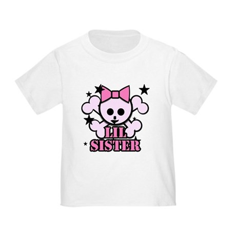 pink bow skull little sister Toddler T-Shir