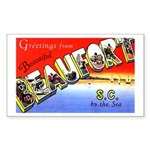 Beaufort South Carolina Greetings Sticker (Rectang