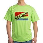 Beaufort South Carolina Greetings Green T-Shirt