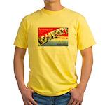 Beaufort South Carolina Greetings Yellow T-Shirt