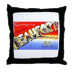 Beaufort South Carolina Greetings Throw Pillow