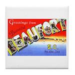 Beaufort South Carolina Greetings Tile Coaster