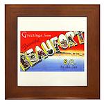 Beaufort South Carolina Greetings Framed Tile