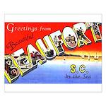 Beaufort South Carolina Greetings Small Poster