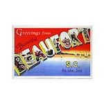 Beaufort South Carolina Greetings Rectangle Magnet