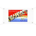 Beaufort South Carolina Greetings Banner