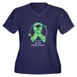Organ Donor Butterfly Ribbon Women's Plus Size V-N