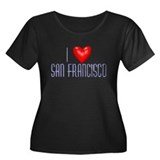 I Love San Francisco Women's Plus Size Scoop Neck