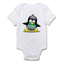 Organ Donor Penguin Infant Bodysuit