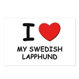 I love MY SWEDISH LAPPHUND Postcards (Package of 8