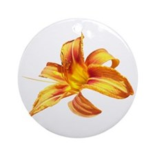 Tiger Lily Ornament (Round)