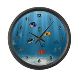 Oceans Of Fish Large Wall Clock