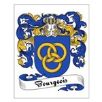 Bourgeois Family Crest Small Poster