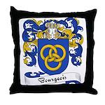 Bourgeois Family Crest Throw Pillow