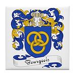 Bourgeois Family Crest Tile Coaster