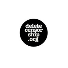 Delete Censorship Mini Button (10 pack)