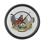 Belgian d'Uccle Bantams Giant Clock