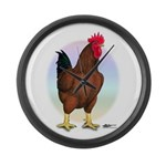 Red Broiler Rooster Giant Clock